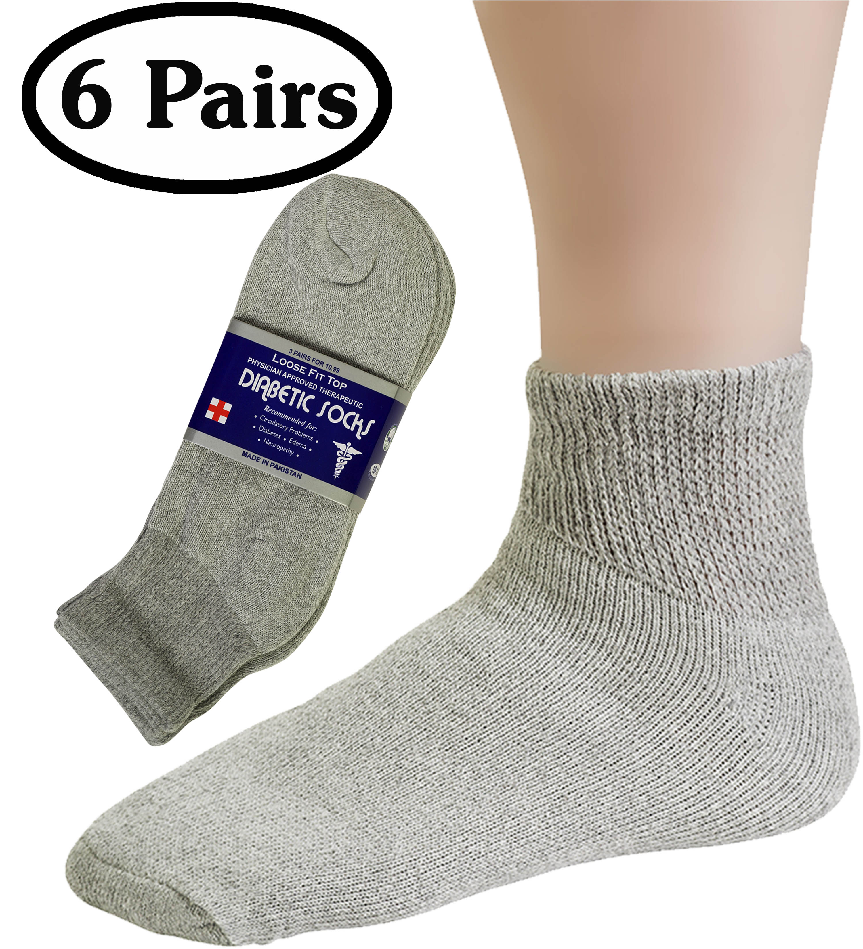 4 Pair Of Diabetic Non Binding Women Socks Size 9-11 Extra Soft Black