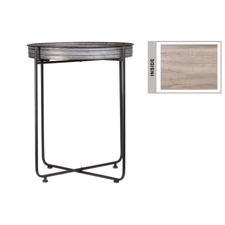 Urban Trends Collection: Metal Table Galvanized Finish -