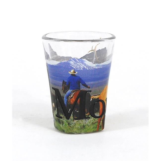 Americaware SGMON01 Montana Full Color Etched Shot Glass by Americaware