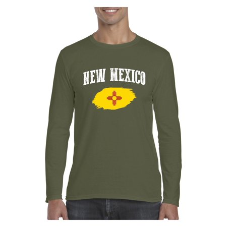 New Mexico State Flag Men Softstyle Long Sleeve -