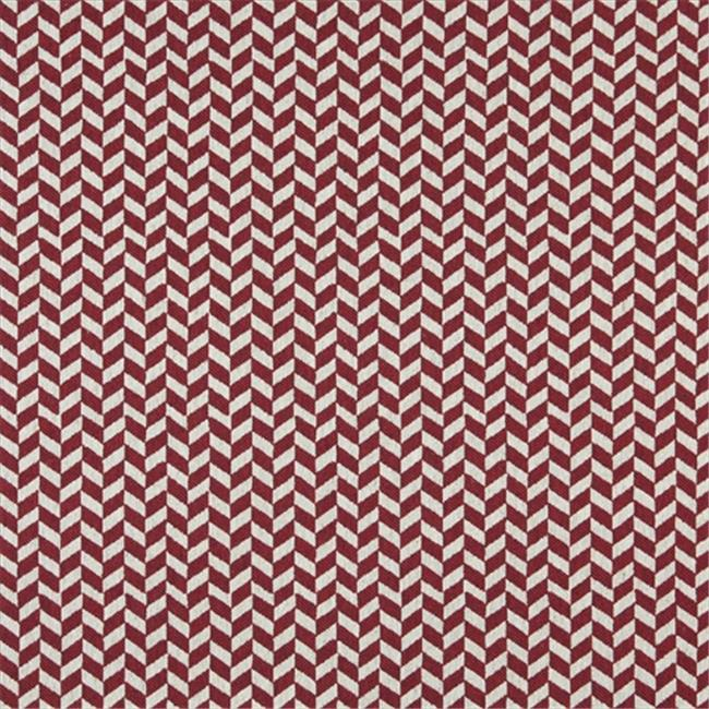 Designer Fabrics K0004A 54 in. Wide Red And Off White, Herringbone Slanted Check Designer Quality Upholstery Fabric