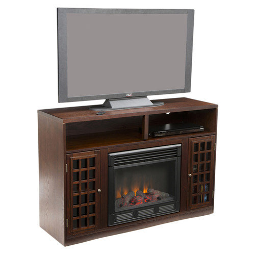Wildon Home   Wallacetown TV/ Media Stand with Electric Fireplace