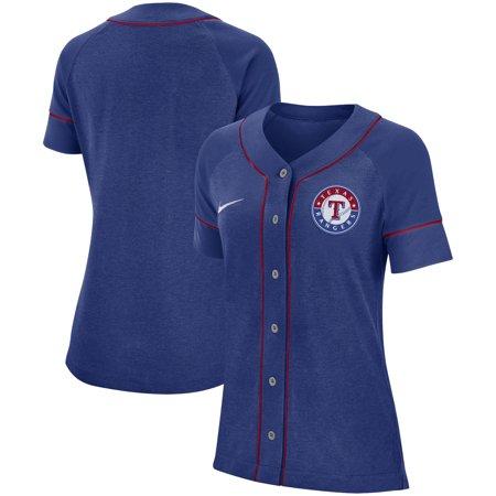 Texas Rangers Nike Women's Classic Baseball Jersey - Royal Rangers Third Jersey