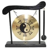Taiji Zen Table Gong Feng Shui Meditation Desk Bell Home Decor Housewarming Congratulatory Blessing Gift (Taiji Gong-WDC969)