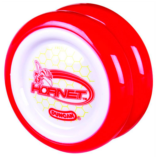 Duncan Hornet Yo-Yo, White with Red Rim