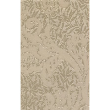 DAMASK - Traditional Unpasted Color Cream Wallpaper Roll - image 1 of 1
