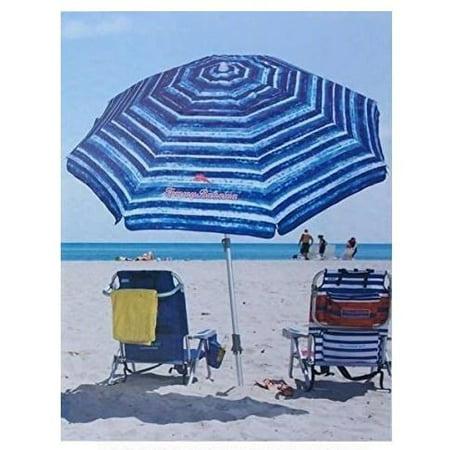 b08b6364437a Tommy Bahama 2017 Sand Anchor 7 feet Beach Umbrella with Tilt and  Telescoping Pole (Blue & White)