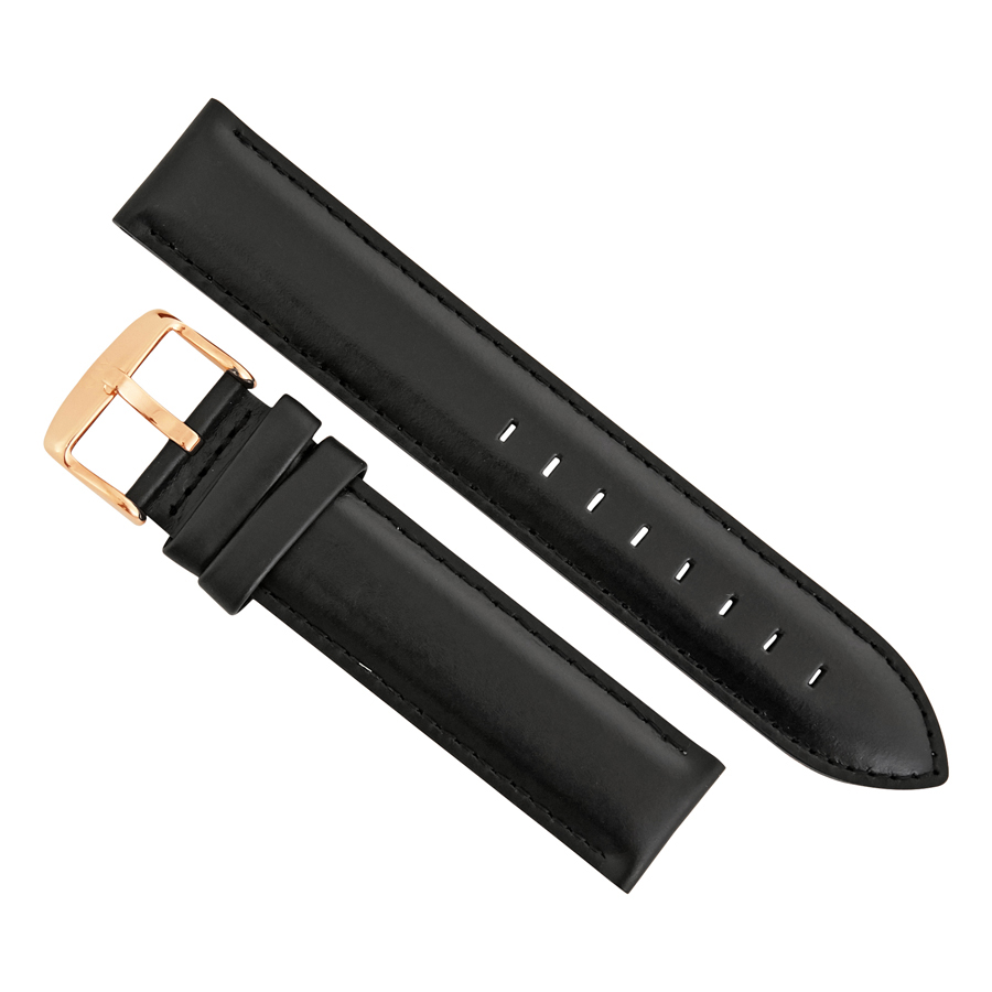 Daniel Wellington Classic Sheffield 20 MM Black Leather Watch Band Strap DW00200108