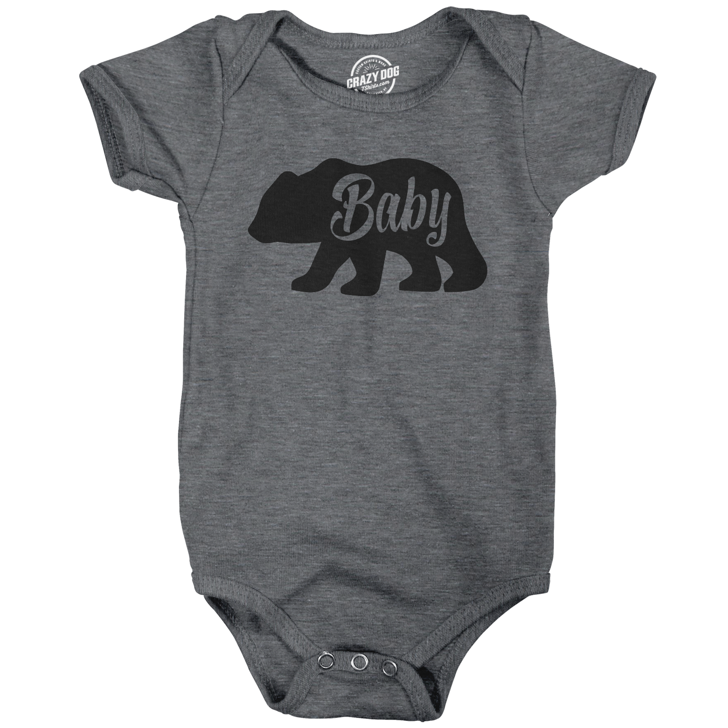 Crazy Dog TShirts - Baby Bear Funny Infant Shirts Cute Newborn Creeper for Family Bodysuit