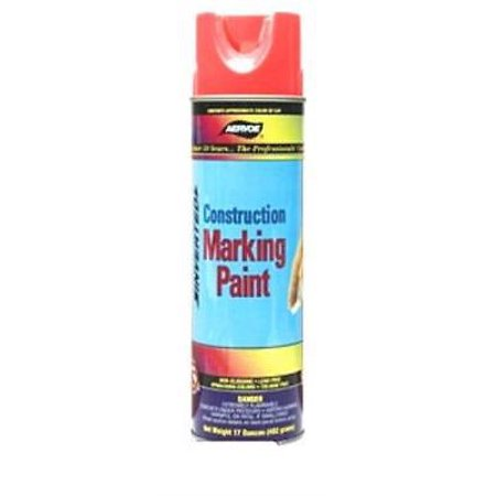 (Aervoe 247 12 Pk 17oz Fluorescent Orange Construction Marking Paint)