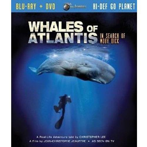 IMAX: Whales Of Atlantis (Blu-ray + DVD) The ancient Greek Plato claimed that the continent of Atlantis vanished in one day and one night, leaving only the peaks of it's mountains emerging from the Atlantic's surface: Today, we know these mountain peaks as the Islands of the Azores. There, a legendary whale lives in the depths: the Sperm whale. Herman Melville wrote Moby Dick after this Sea Giant. For decades, whale Hunters have been harpooning herds of these magnificent creatures, pursuing them from the United States to the remote waters of the mammal's favorite sanctuary, the Azores. Join explorer-filmmaker Jean-Christophe Jeauffre and his crew on board the fantastic sailing ship, the three master ship Belem, in search of the mystic Whale, in the last chapter of the Jules Verne Expedition trilogy. You are about to board another amazing Action-documentary film from the Jules Verne Adventures Expeditions on the Atlantic, for a five-month spectacular mission of discovery, narrated by legendary actor Christopher Lee ( Lord Of The Rings,   Star Wars ) and powerfully scored by Emmy(R) Award winner John Scott ( Greystoke,   Cousteau's Undersea World ).