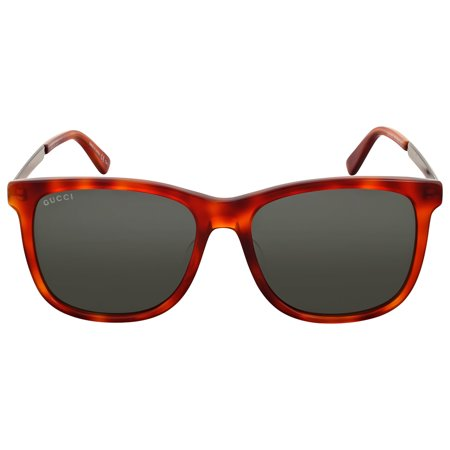 Gucci Light Havana Square Sunglasses