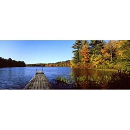 Fall Colors Along A New England Lake Goshen Hampshire County Massachusetts Usa Poster Print