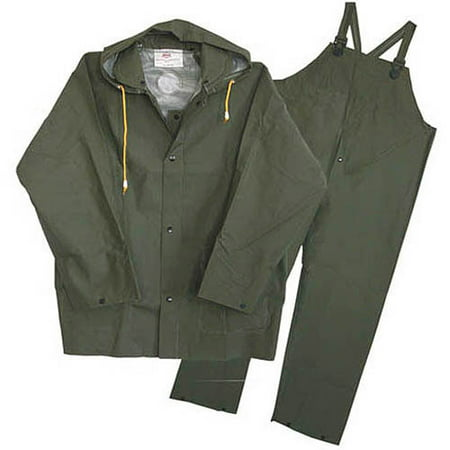 Boss Gloves 3-Piece Green Lined Rain - Line Double Layer Suit