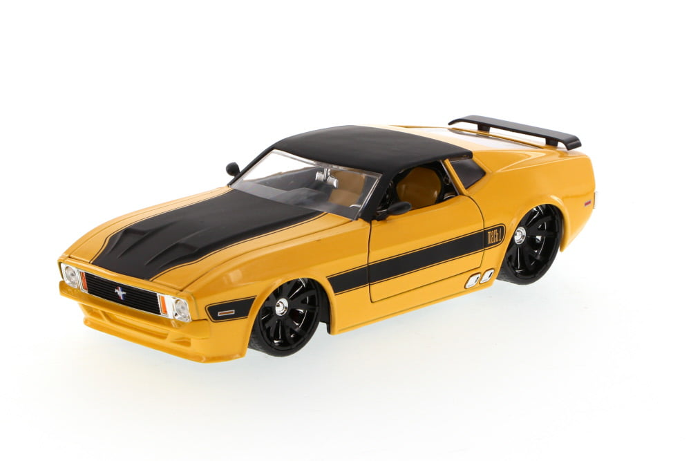 1973 Ford Mustang Mach 1, Yellow Jada Toys Bigtime Muscle 90747 1 24 scale Diecast Model... by Jada