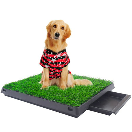Jaxpety Dog Pee Pads Potty Puppy Training Grass Indoor Potty Toilet W/tray Pet Mat Tray - Indoor Dog Toilet