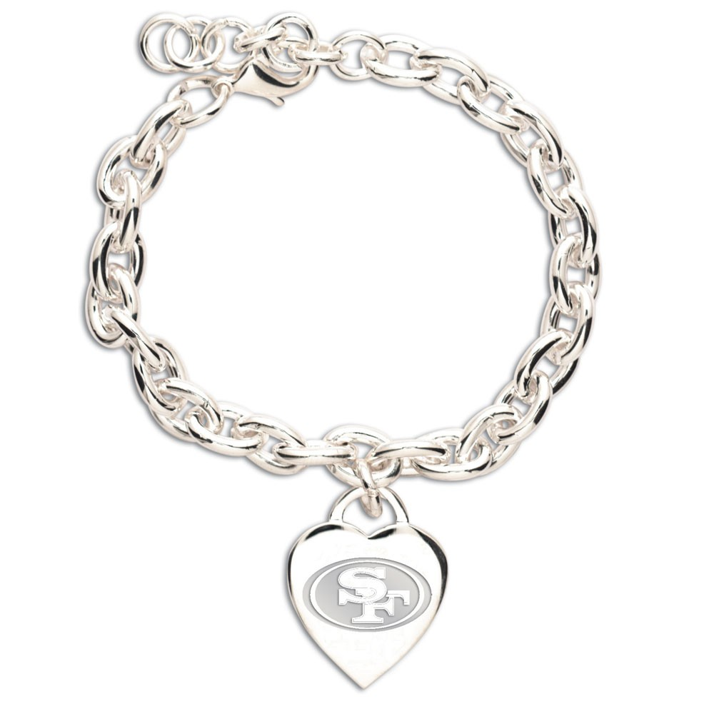 San Francisco 49ers Official NFL 7 inch  Charm Bracelet by Wincraft