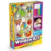 Window Paint Art Stickers Kit Kids Childrens Make Your Own Fun Suncatchers Set [24] Sun Catchers, [24] Suction Cups and