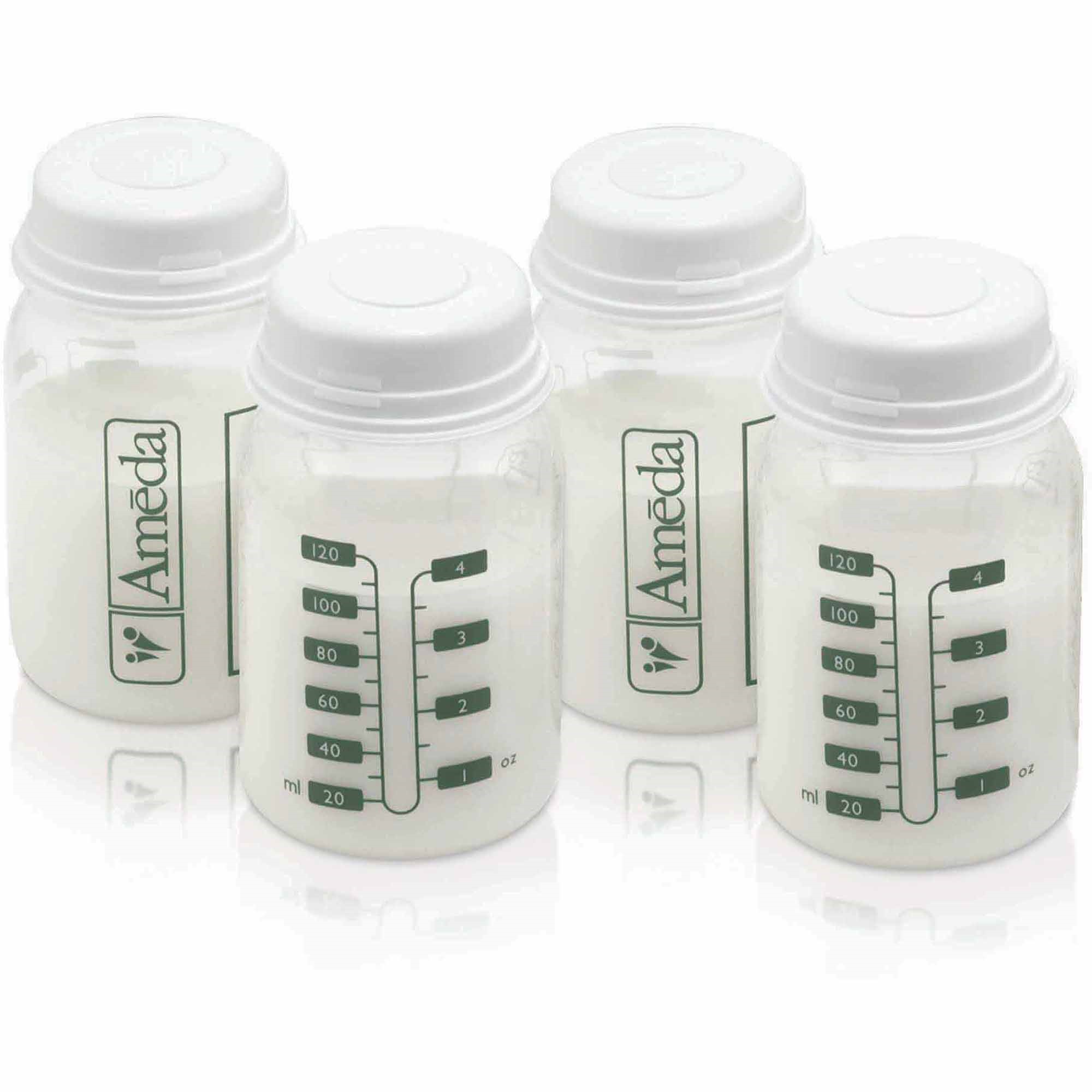 Ameda Breast Milk Storage Bottle, BPA-free, 4-Pack