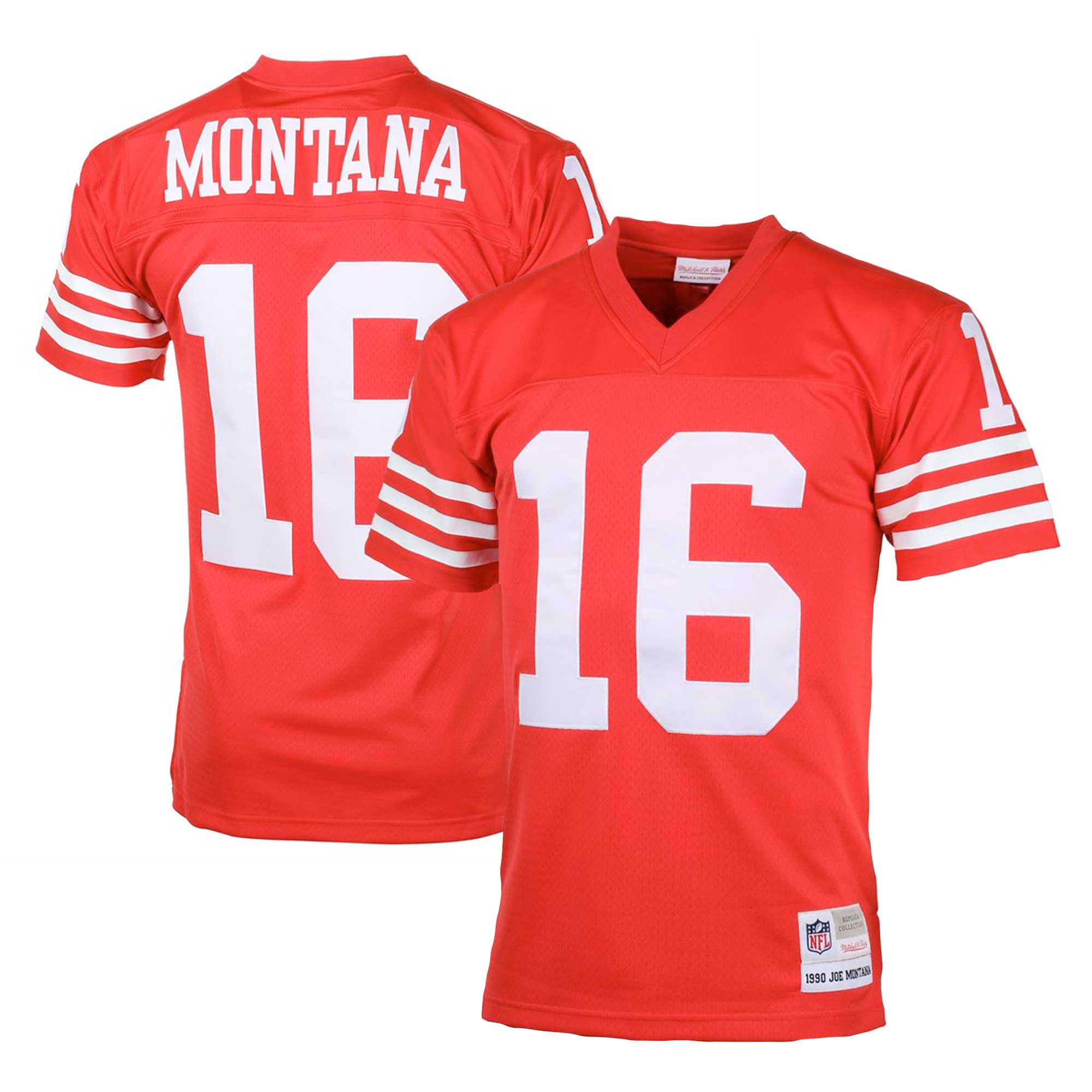 Joe Montana San Francisco 49ers Mitchell & Ness Big & Tall 1990 Retired Player Replica Jersey - Scarlet