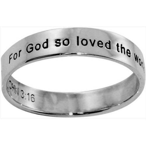 Ring-John 3:16-Style 493-(Sterling Silver)-Size 11