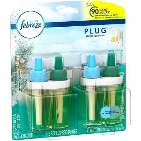 Febreze Plug Air Freshener Refills, Fresh Cut Pine, 2 ...