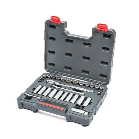 "Crescent CTK30SETN 30 Pc. 3/8"" Drive 6 & 12 Point Standard & Deep SAE/Metric Mechanics Tool Set"