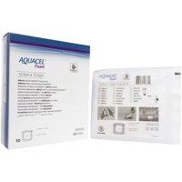 "Convatec 420619 Aquacel Foam Adhesive Dressing 5"" x 5"" - Box of 10"