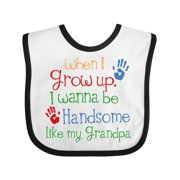 Handsome Like Grandpa Gift for Grandkids Baby Bib
