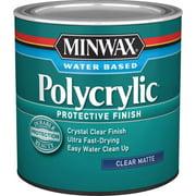 Minwax Polycrylic Protective Finish Clear Matte Half Pint