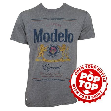 modelo especial grey pop top bottle opener tee (Modelo Now)