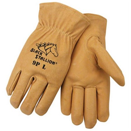 Pigskin Grain - Black Stallion 9P Premium Grain Pigskin Driving Gloves