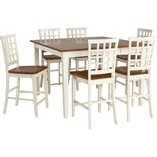 Imagio Home Arlington Gathering Height Dining Table, White and Java by