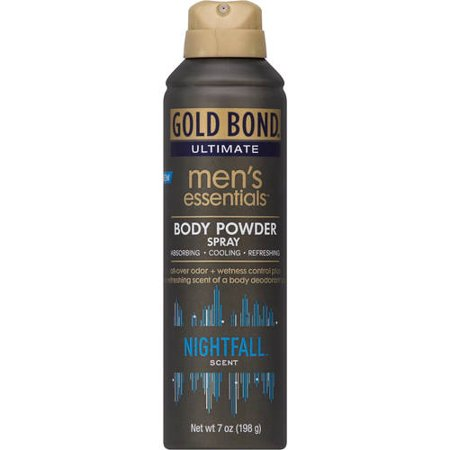 GOLD BOND Ultimate Men's Essentials Body Powder Spray, Nightfall Scent,