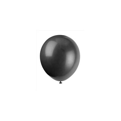 Unique Industries 5109 15 count 12 inch Balloons in Jet Black - 144 Packs