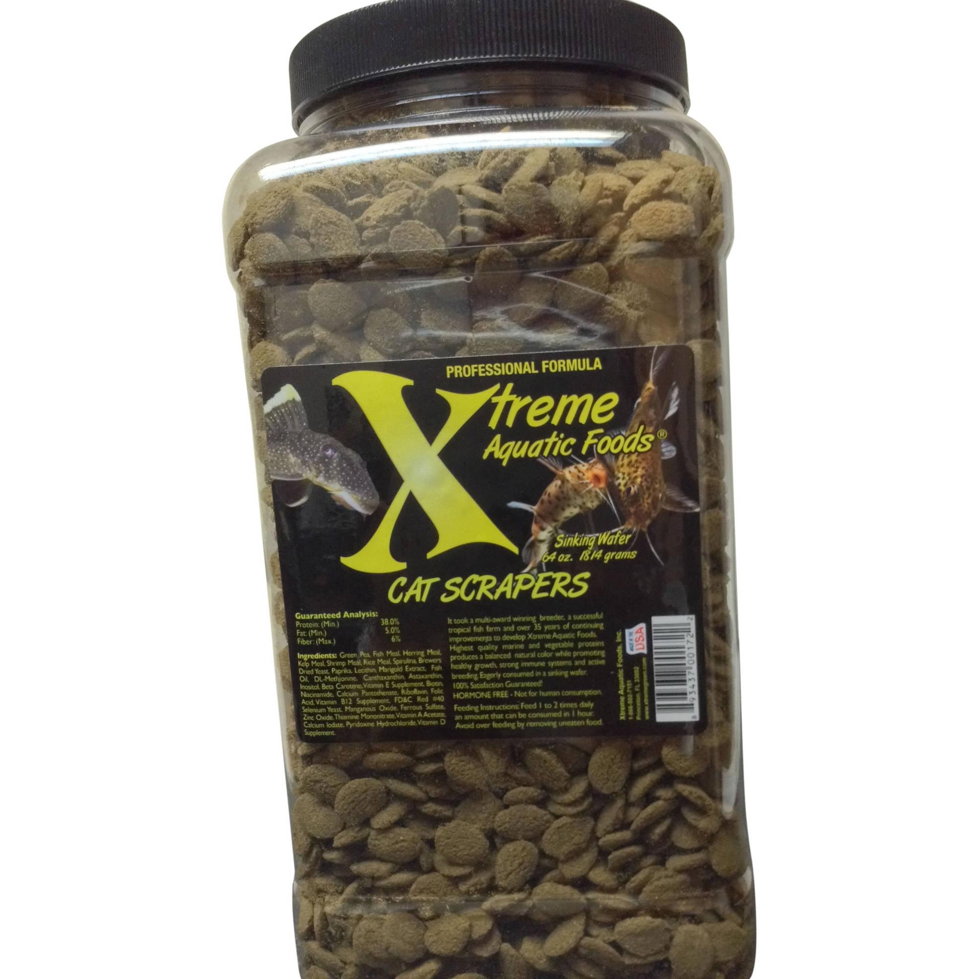 Xtreme Aquatic Foods 2172-G Cat Scrapers Fish Food