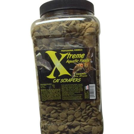 Xtreme Aquatic Cat Scrapers Sinking Algae Wafers Fish Food, 64 -