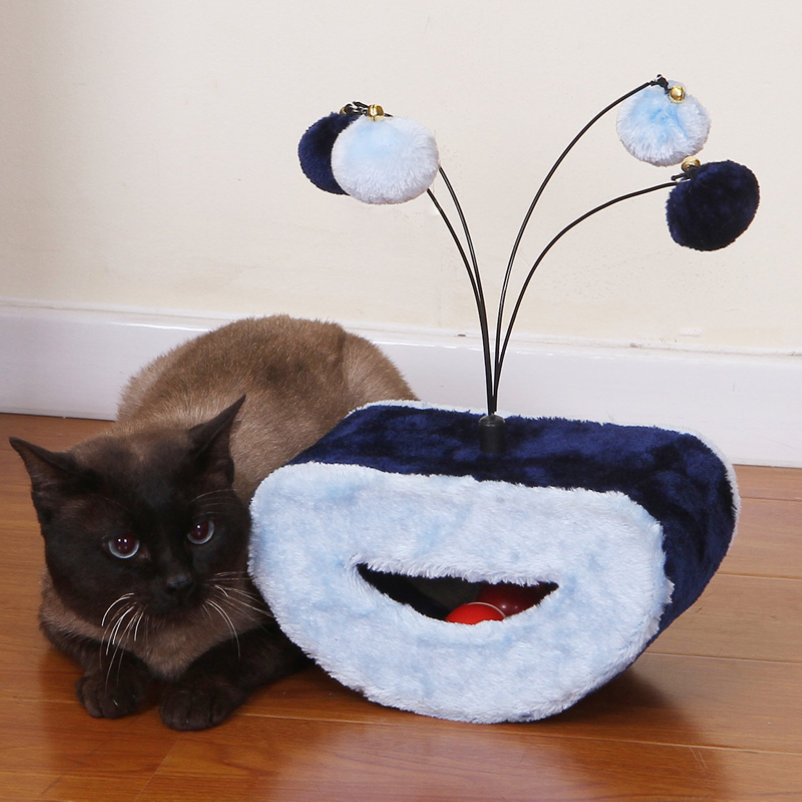 PetPals Dainty Light Blue Cat Toy with Sisal and Teasing Toys