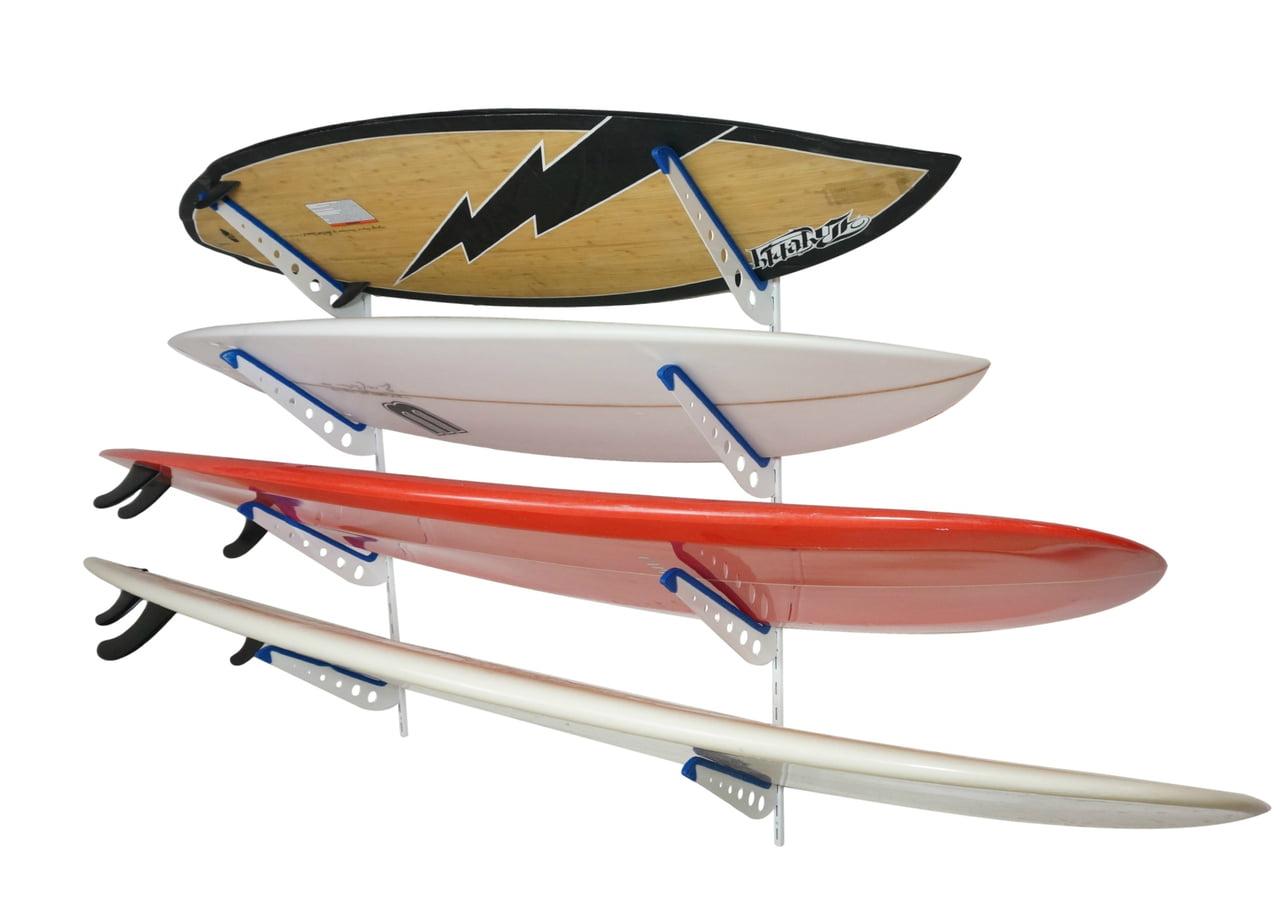 Metal Surf Storage Rack   Adjustable 4 Surfboard Wall Mount ...