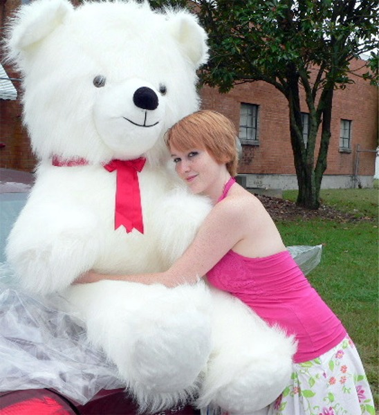 Click here to buy Giant Teddy Bear 54 Inch White Soft Huge Teddybear Made in USA America, Weighs 18 Pounds by BigPlush.
