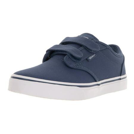 Vans Kids Atwood V Blue Canvas Skate Shoe - Walmart.com 2c0cd297a33