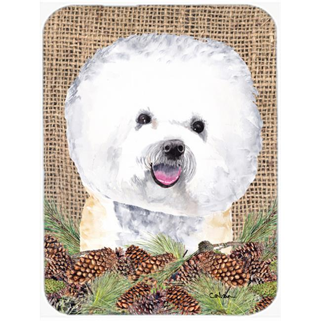 Carolines Treasures SC9047LCB 15 x 12 in. Bichon Frise Glass Cutting Board - Large - image 1 of 1