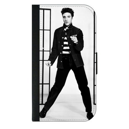 Elvis Presley - Wallet Style Cell Phone Case with 2 Card Slots and a Flip Cover Compatible with the Apple iPhone 6 Plus and 6s Plus - Elvis Presley Cape