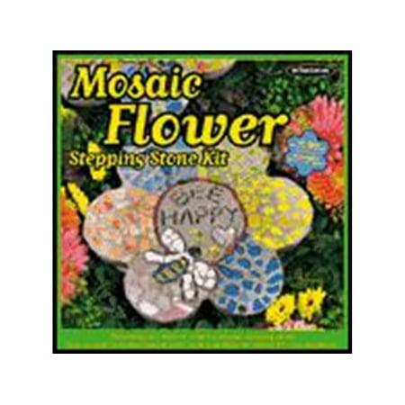 "Milestones Kit Stepping Stone Mosaic Flower 12"""