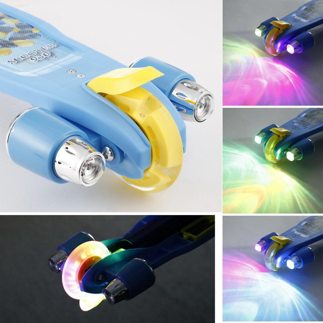 Kids 3-Wheels Kick Scooter w/Flash LED Light-up Wheel HPPY