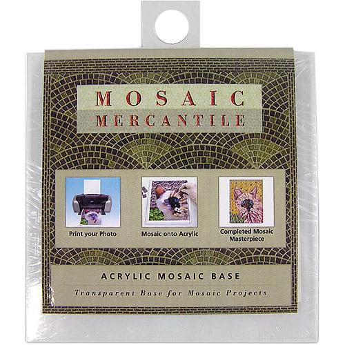 """Mosaic Mercantile Acrylic Mosaic Base, Square, 4"""", 2/Pkg"""