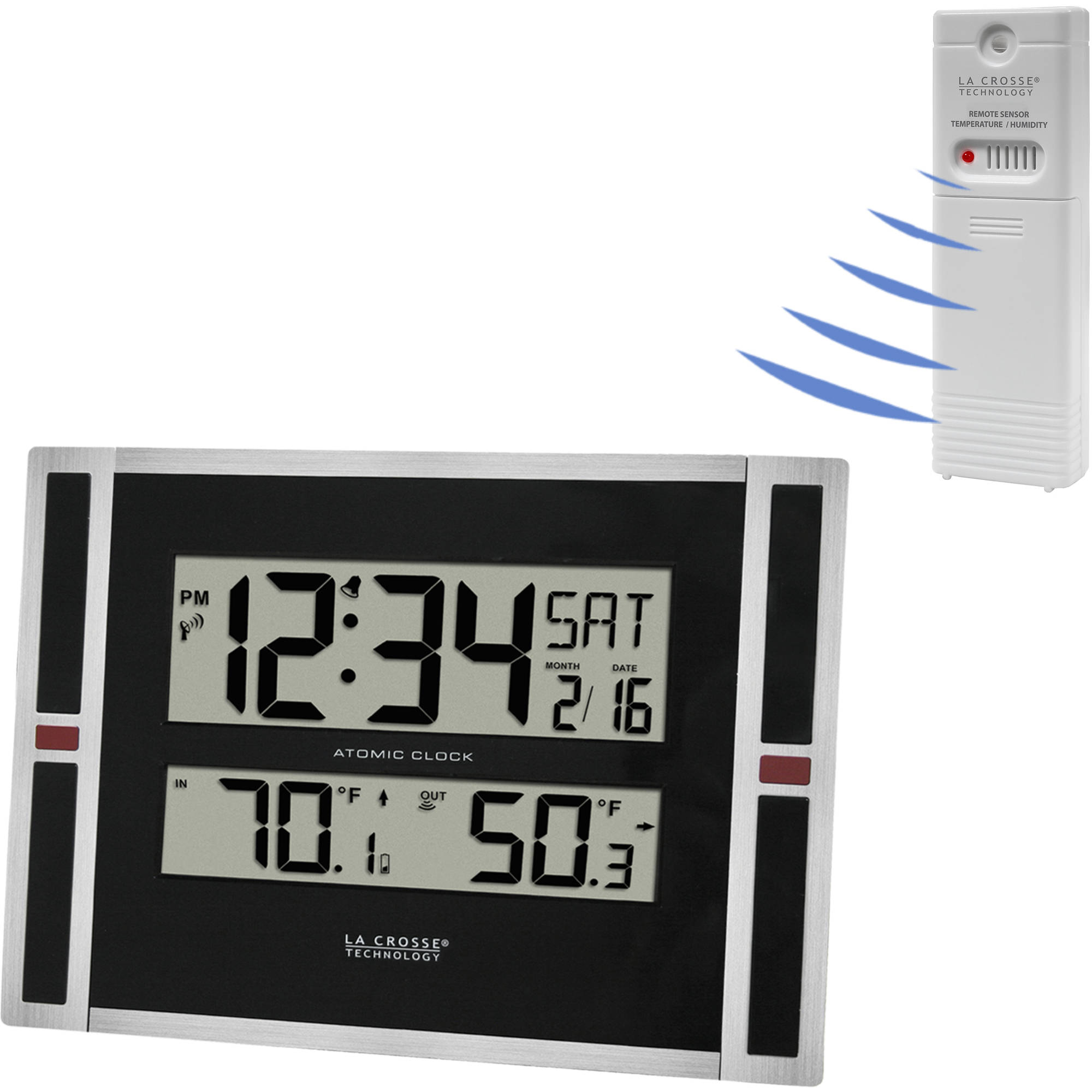 Better Homes and Gardens Atomic Clock with Forecast Walmartcom