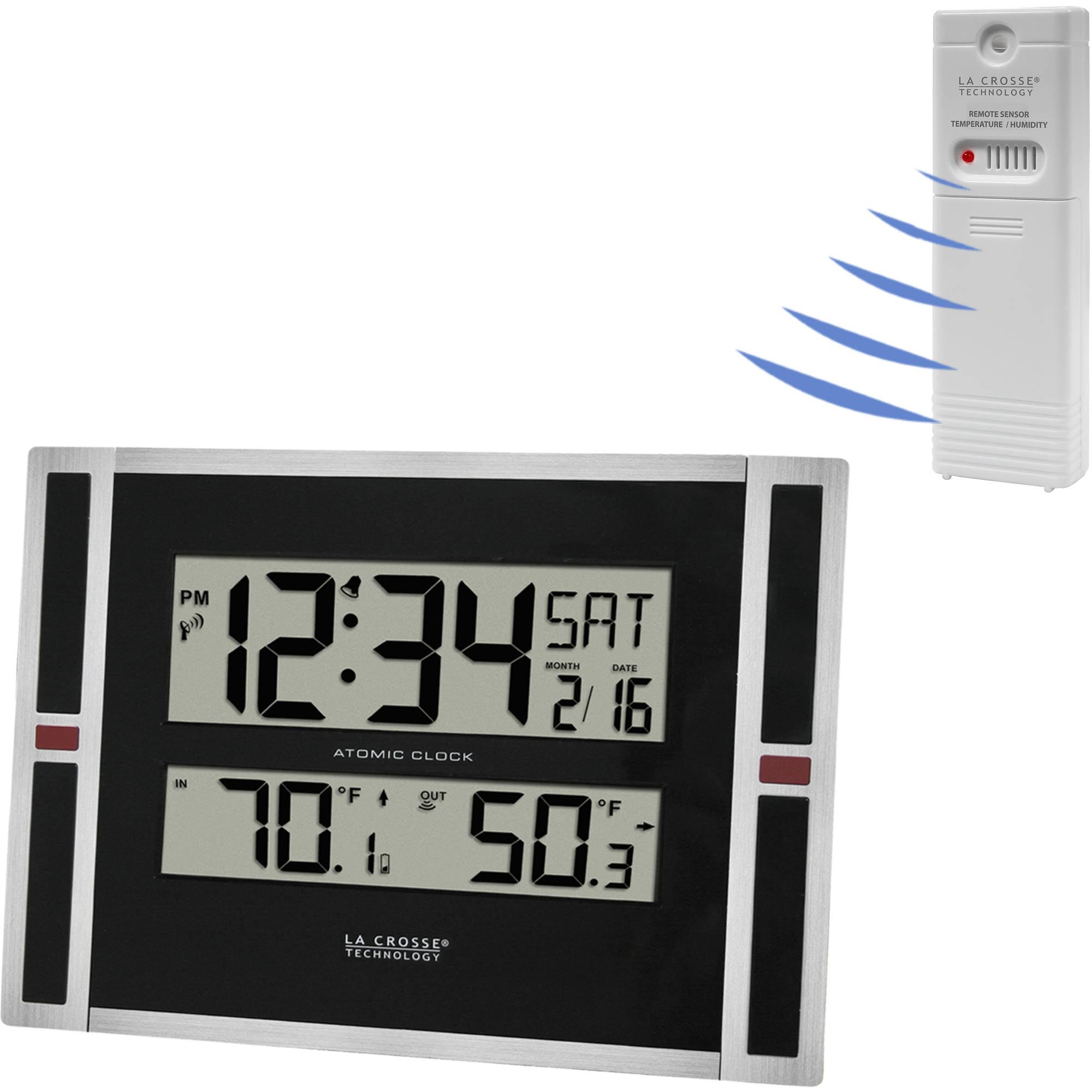 "La Crosse Technology 11"" WWVB Digital Clock with Temperature"