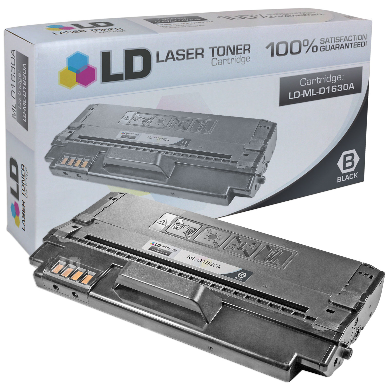 LD Compatible Replacement for Samsung ML-D1630A Black Laser Toner Cartridge for use in Samsung ML-1630, ML-1630W, SCX-4500, and SCX-4500W Printers