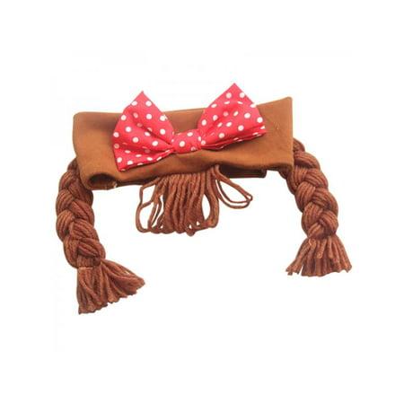 Lavaport Fake Braid Headband for kids Cute Bowknot Faux knitted Hair Hairband for Girls 0-3Y](Cute Box Braids)